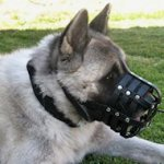Leather Basket Dog Muzzle for All Breed Dogs