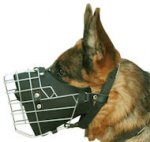 German Shepherd Basket Muzzle - Cage Wire Dog Muzzle For German Shepherd