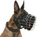 Belgian Malinois Basket Muzzle - Cage Wire Dog Muzzle For Belgian Malinois