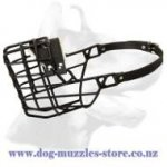 Black Rubber Covered Cage-Like Dog Muzzle