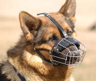 baske wire dog muzzle for german shepherd