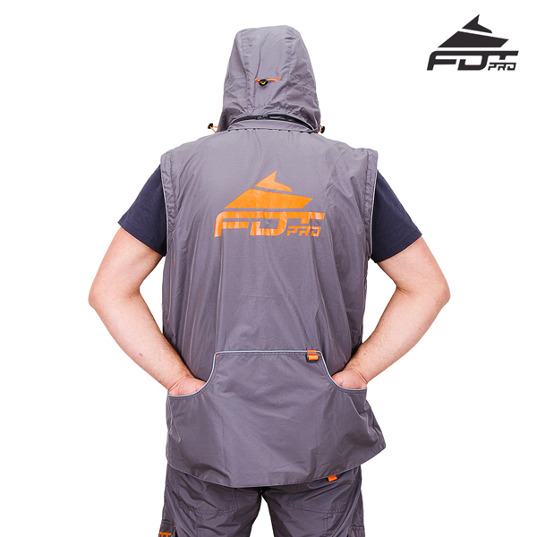 FDT Pro Dog Trainer Jacket with Back Pockets for your Convenience