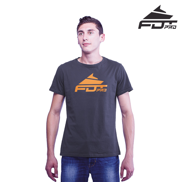 Finest Quality Cotton FDT Pro Men T-shirt of Dark Grey