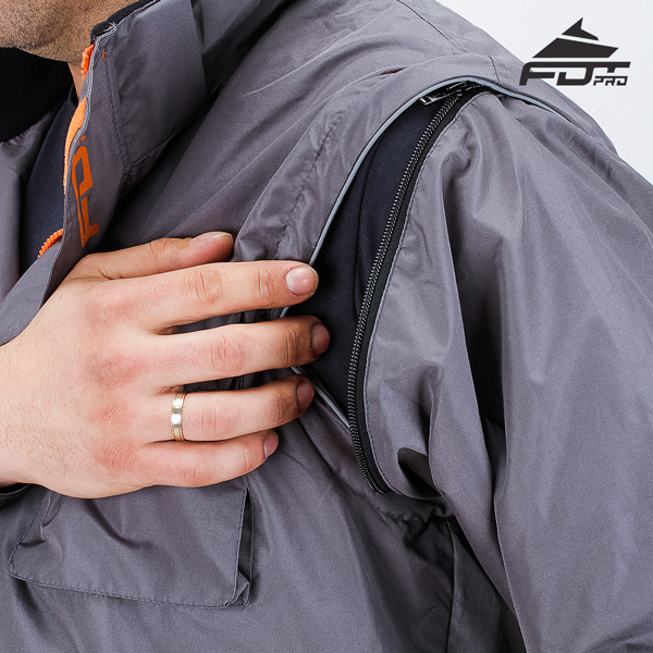 Top Notch Zipper on Sleeve for Professional Design Dog Tracking Jacket