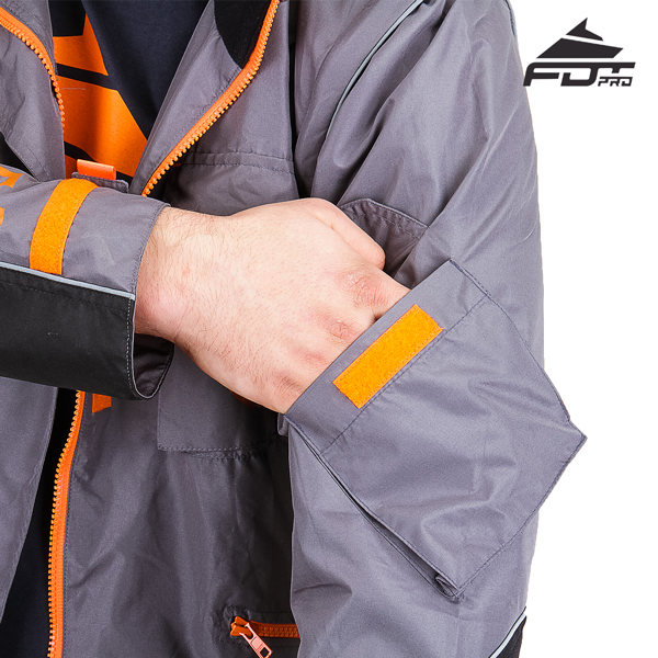 Pro Design Dog Training Jacket with Strong Sleeve Pocket