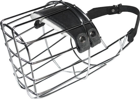 Wire Basket Dog Muzzle Rottweiler or Pit Bull Or Similar Nose