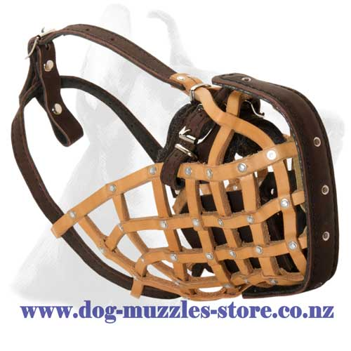Attack/agitation training leather dog muzzle