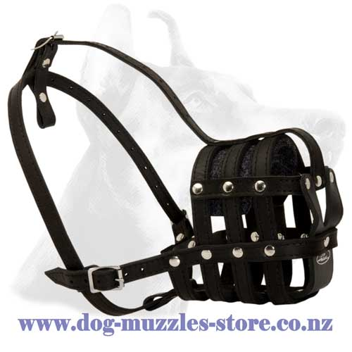 Leather dog muzzle basket like style