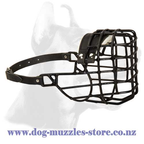 Wire cage basket dog muzzle